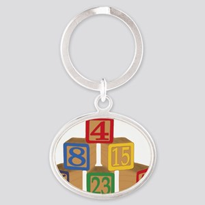numbers Oval Keychain
