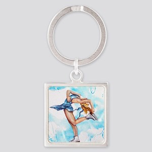 Blue Dream Square Keychain