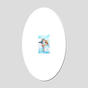 Blue Dream 20x12 Oval Wall Decal