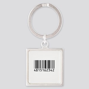 barcode-w Square Keychain