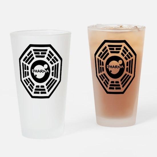 dharma-karma Drinking Glass