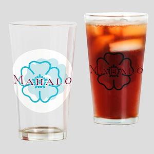 mahalo_cir Drinking Glass