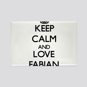 Keep Calm and Love Fabian Magnets