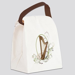 harp white Canvas Lunch Bag