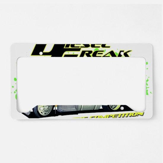 Green Yellow Diesel Freak - n License Plate Holder