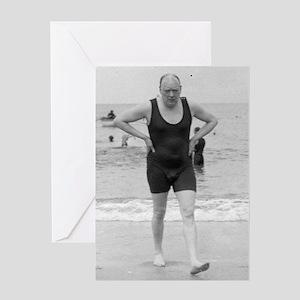 ART Churchill beach bag Greeting Card
