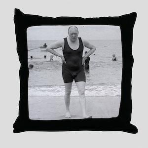 ART Churchill beach bag Throw Pillow