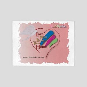 ValentineAngels2 5'x7'Area Rug