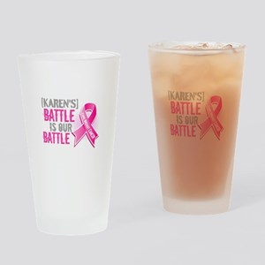 Personalized Breast Cancer Drinking Glass