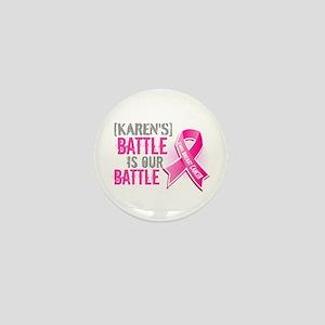Personalized Breast Cancer Mini Button