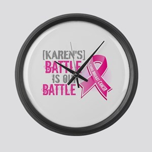 Personalized Breast Cancer Large Wall Clock