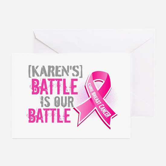 Personalized Breast Cancer Greeting Cards (Pk of 2