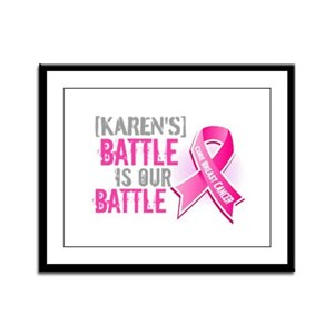 Personalized Breast Cancer Framed Panel Print