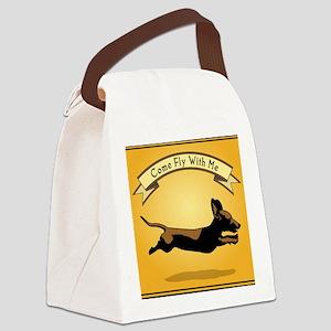 8x9_trvlbnd_flying_dog Canvas Lunch Bag