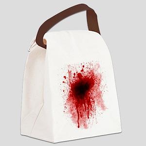 dark leg pillow Canvas Lunch Bag