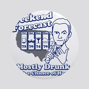 Weekend Forecast Round Ornament