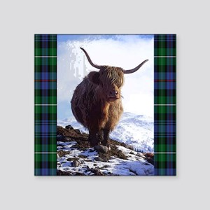 "highland_coo Square Sticker 3"" x 3"""