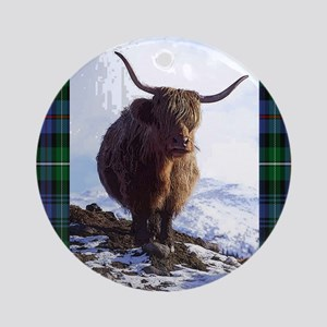 highland_coo Round Ornament