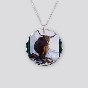highland_coo Necklace Circle Charm