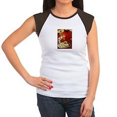 Wine & cheese Women's Cap Sleeve T-Shirt