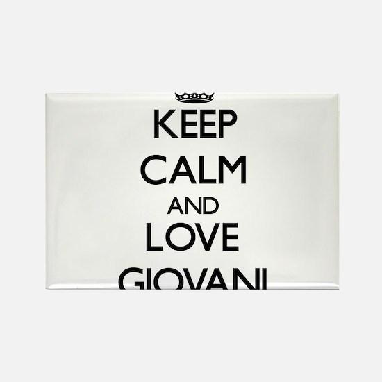 Keep Calm and Love Giovani Magnets