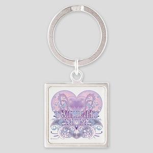 Twilight Mom Fancy Heart Square Keychain