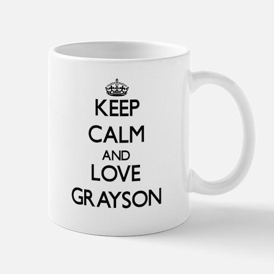 Keep Calm and Love Grayson Mugs