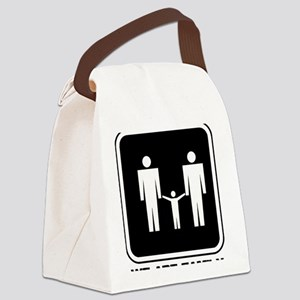 we are family men black Canvas Lunch Bag