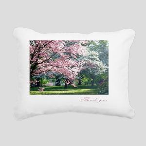 Thank You Note Cards, pi Rectangular Canvas Pillow