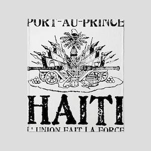 Port-au-Prince Black Throw Blanket
