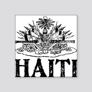 "Port-au-Prince Black Square Sticker 3"" x 3"""
