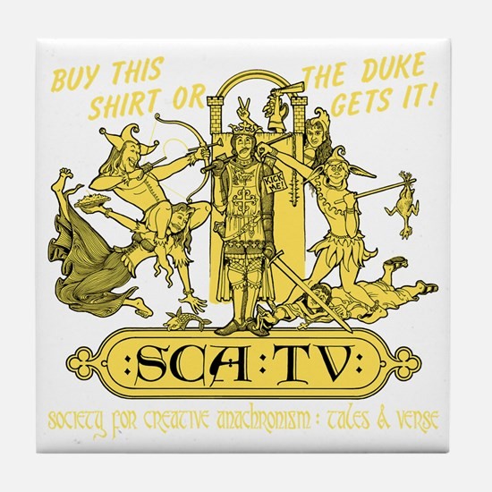 SCATVshirt Tile Coaster