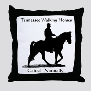 Tennessee Walking Horse Throw Pillow