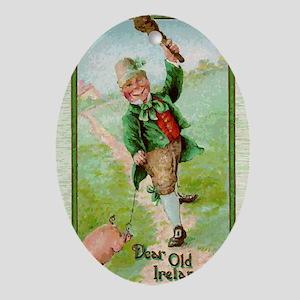 St-Pats-Leprechaun Oval Ornament