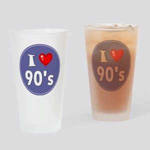 I Love the 90's Drinking Glass