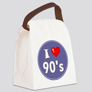 I Love the 90's Canvas Lunch Bag