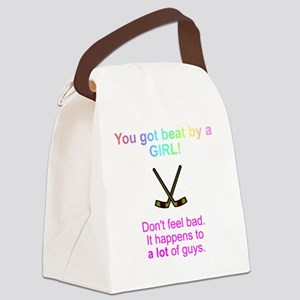 beat by a girl Canvas Lunch Bag