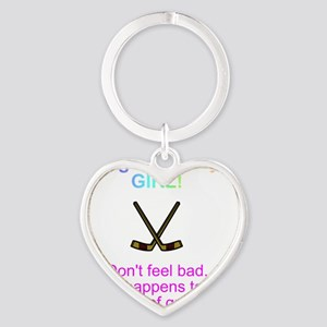 beat by a girl Heart Keychain