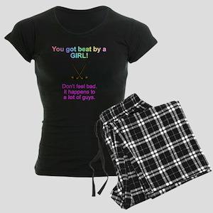 beat by a girl Women's Dark Pajamas