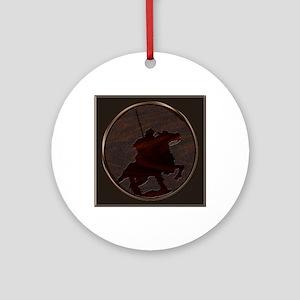metaleffect border reiver sq Round Ornament