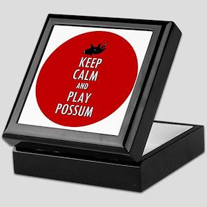 Keep Calm and Play Possum Keepsake Box