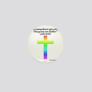 nohate-back-one-quote-rainbow Mini Button