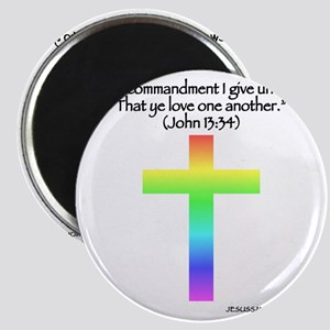 nohate-back-one-quote-rainbow Magnet