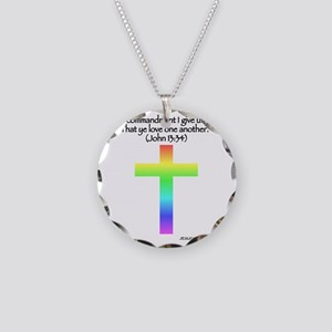 nohate-back-one-quote-rainbo Necklace Circle Charm