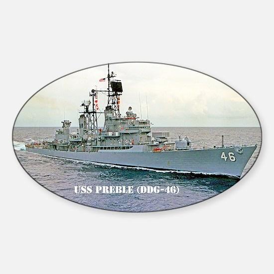 preble ddg mini poster Sticker (Oval)
