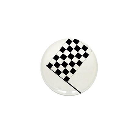 Racing Checkered Flag Mini Button (100 pack)