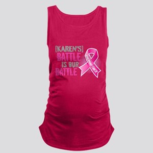 Personalized Breast Cancer Maternity Tank Top