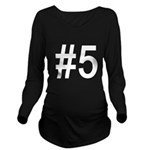 number 1 Long Sleeve Maternity T-Shirt