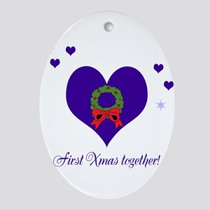 First Xmas together Ornament (Oval)