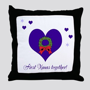 First Xmas together Throw Pillow
